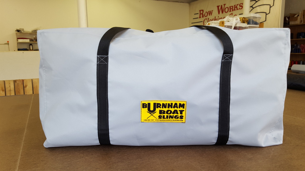 "Keep your Boathouse organized.  Simplify your life!  Make derigging & loading faster & more efficient.  Store your 4 & 8 covers in a great new bag.  Measures 36"" x 24"" 18"".  Fully available in team colors."