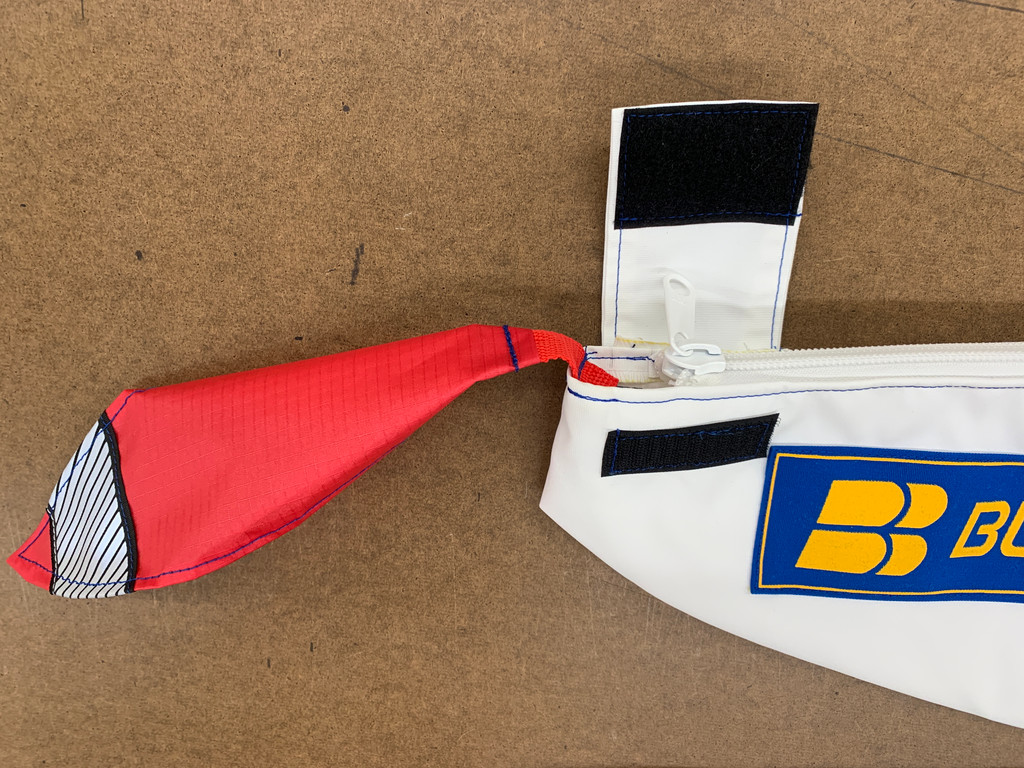 All our covers have a bright red warning flag included. Zipper has built in protective tab secured with Velcro. Zipper-covers are much easier on-off than socks! Our covers are not just great for outdoor storage, they are also ideal for protecting boats stowed for daily use.