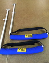 These Add-Ons bolt to the Hanging Rack uprights.  Easily store 2 boats in the boathouse rafters