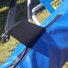 Rudder velcro flap