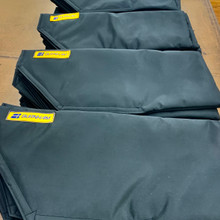 Sweep oar Blade Covers will protect your oars while travelling.  Fully padded WeatherMAX.  Easy to use Velcro closure.  The Blade covers come in a set of (4) each.  Order (2) sets for your 8.