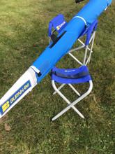 Regatta Sling alongside 1x in Chesapeake Sling. Slings for shells and kayaks.