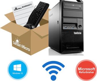 Lenovo ThinkStation E31 Core i7-3770 3.4GHz 8GB 1TB DVD+/-RW Windows 10 Pro 64-Bit