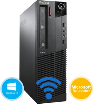 Lenovo M90P SFF Desktop Computer Intel i5 3.20GHz 8GB 320GB Windows 10 Home WiFi