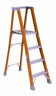 NEW Louisville Ladder FP1503 Fiberglass Platform Ladder 3-Feet 300-Pound Rating