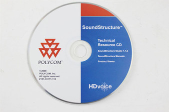 Genuine Polycom HD Voice SoundStructure Technical Resource CD 2151-33171-112