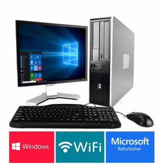 "HP Desktop Core 2 Duo 3.00GHZ 4GB 1TB DVD 17"" LCD, WIFI, Windows 10"