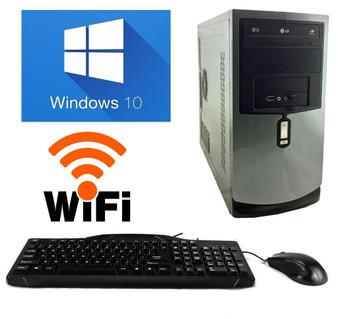 Refurbished Desktop Computer PC  Intel Dual Core 4GB 160GB DVD  Windows 10 Wifi