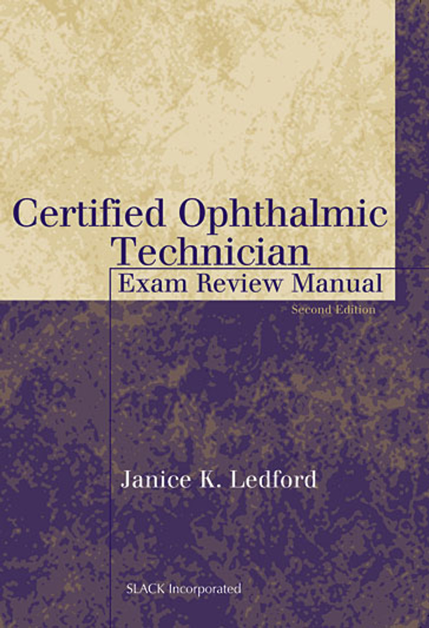 ophthalmic technician exam certified manual second edition