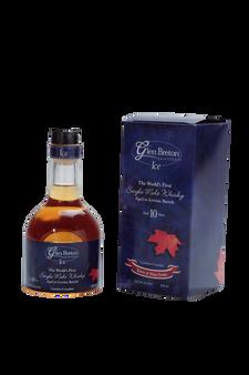 Glen Breton Ice 10 Year Old Canadian Single Malt Whisky aged in Ice Wine Barrels - box & bottle front