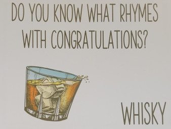 Whisky themed congratulations card    Buy Whisky Gifts Online