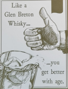 Whisky themed greeting card for birthday