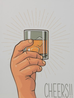 Whisky themed greeting card for any occasion.