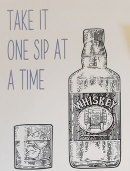 Whisky themed greeting card