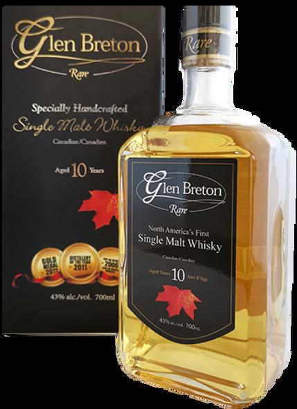 Glen Breton Rare 10 Year Old Canadian Single Malt Whisky 43% alc/vol