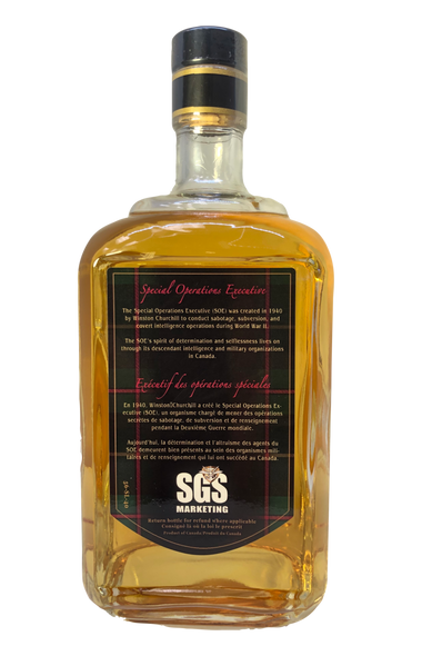 Special Operations Executive Commemorative Canadian Single Malt Whisky -  SOE agents were mainly tasked with sabotage and subversion behind enemy lines.