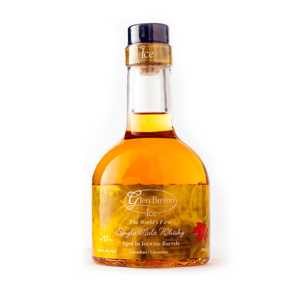Glen Breton Ice 17 Year Old Canadian single malt whisky aged in an ice wine barrel - bottle front