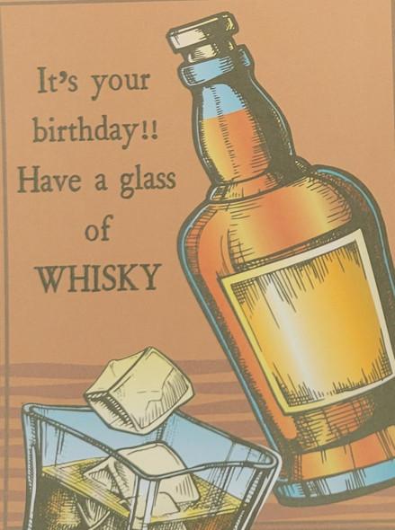 Whisky themed birthday card