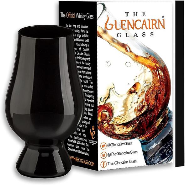Black Glencairn whisky glass