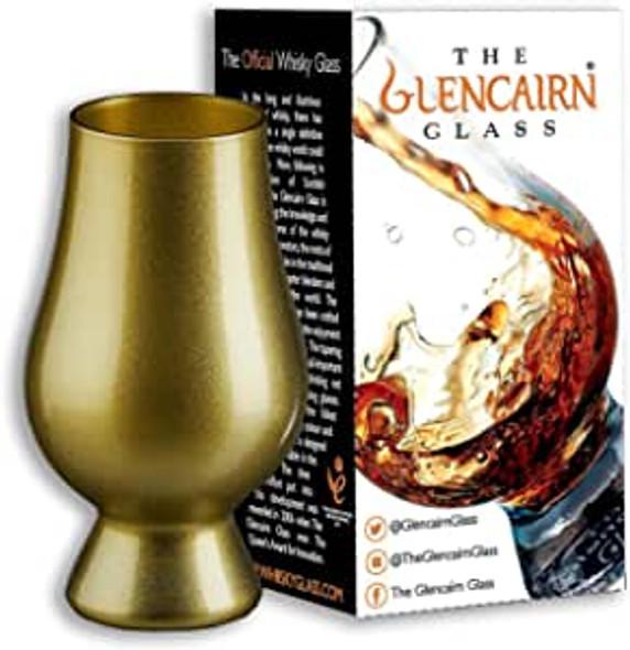 Gold Glencairn whisky glass