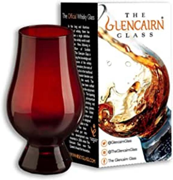 Red Glencairn whisky glass