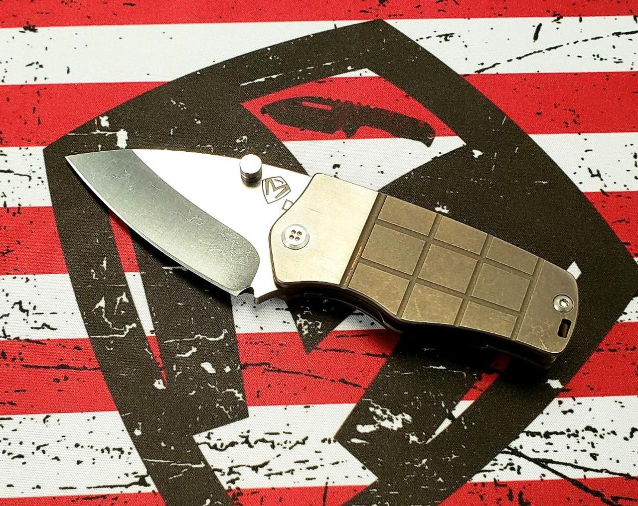 Medford Sherman - D2 Tumbled Blade - Ano Bronze Handle