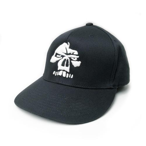 Emerson Black Flex Fit Hat 3D Skull