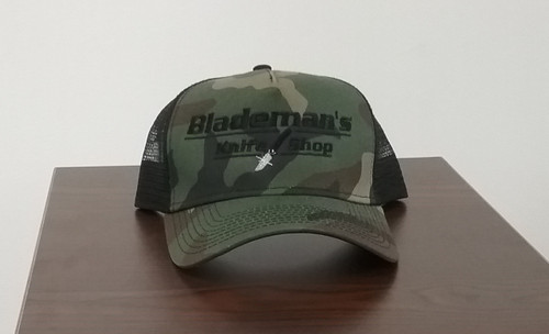 Blademan's Knife Shop Logo Hat Camo/Blk