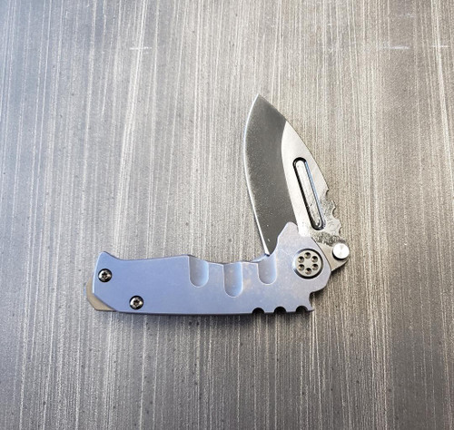 Medford Micro Praetorian T S35VN Tumbled PVD Drop Point Blade Ti Blue Ano handle SS hardware PVD clip and breaker