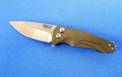 Medford Smooth Criminal - S35VN Tumbled Blade - AL Green Handle