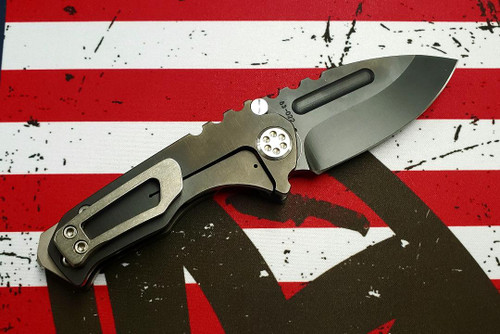 Medford Micro Praetorian T - PVD D2 Drop Point Blade PVD Handle