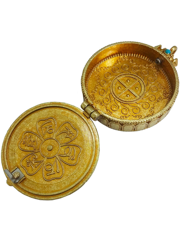 Kalachakra Round Gau (Brass gilt gold)