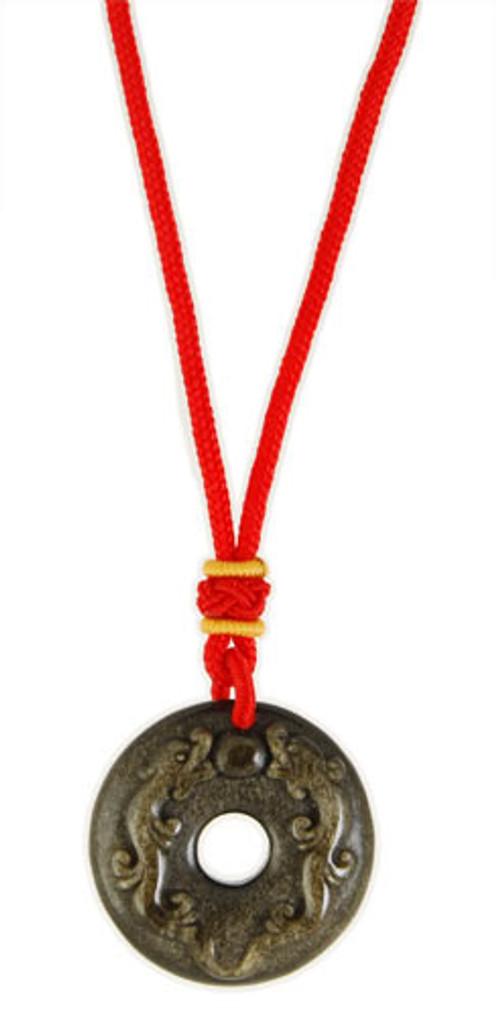 Gold Sheen Obsidian Pendant