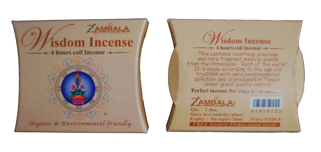 Wisdom Incense 4-Hours Coil Incense