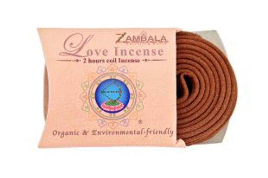Love Incense 2-Hour Coil Incense
