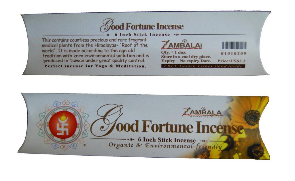 "Good Fortune 6"" Stick Incense"