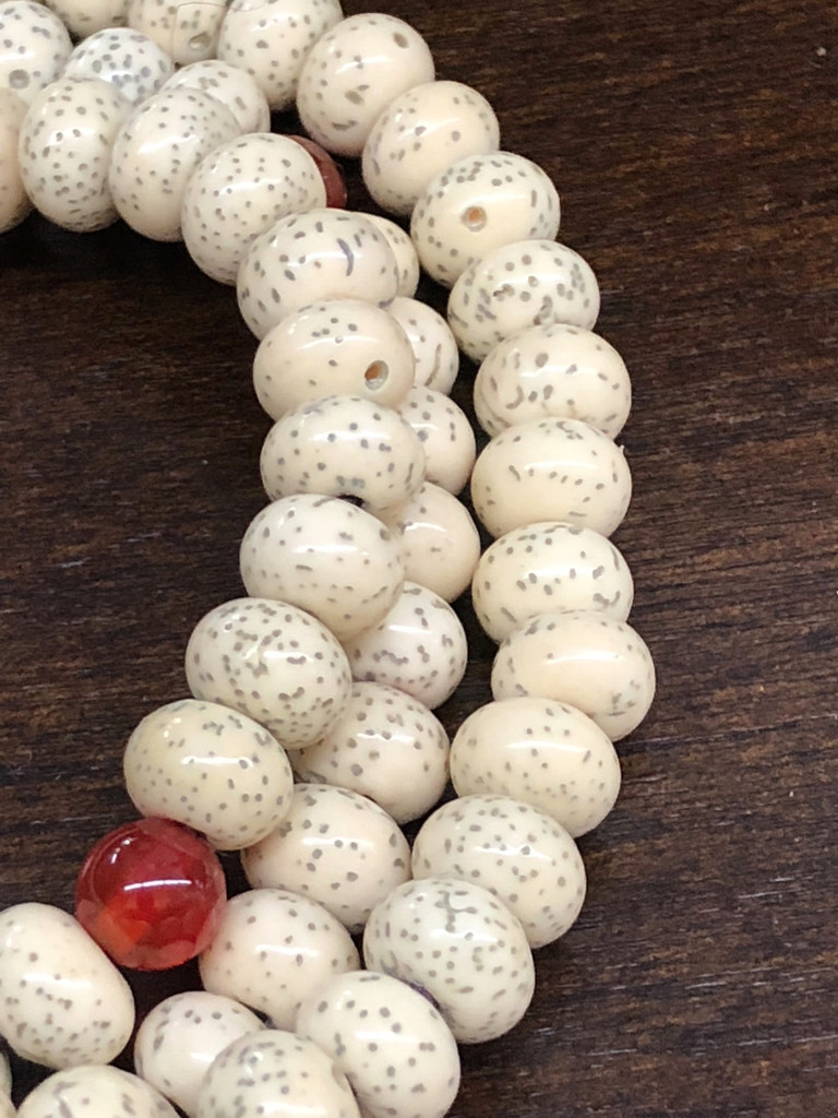 Stars & Moon Bodhi Seed / 108 6-7mm Abacus Beads