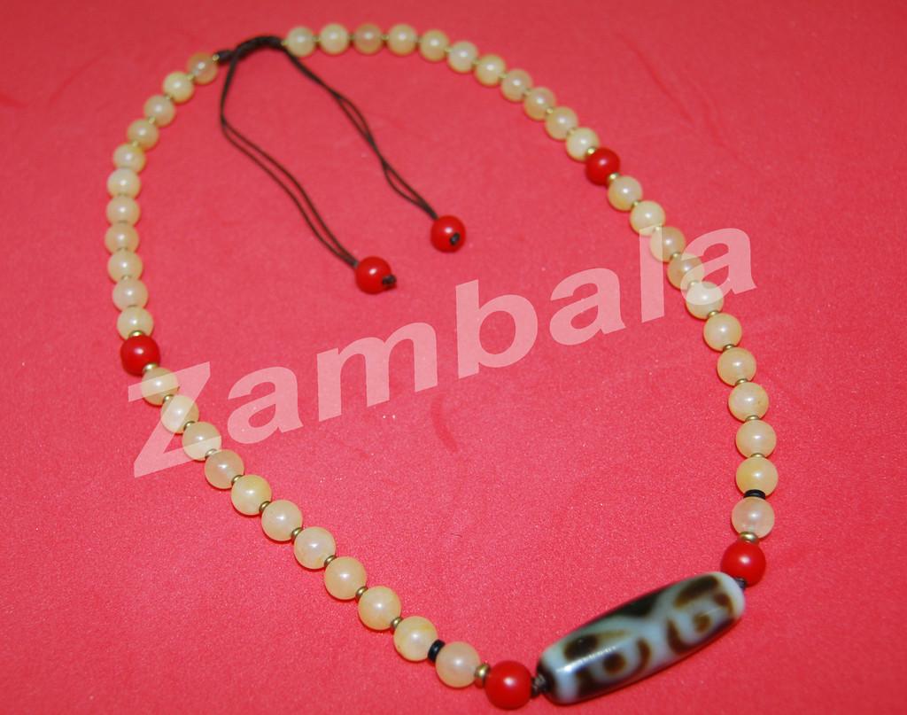 Dzi With Bodhi Roots Beads Mala