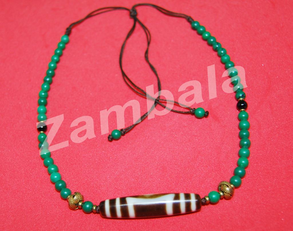 Dzi with Torquoise Beads Mala(j)