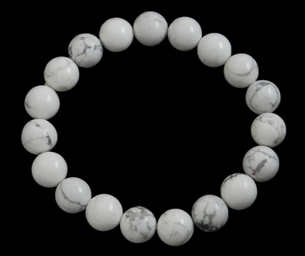 White Howlite Bracelet 10 mm