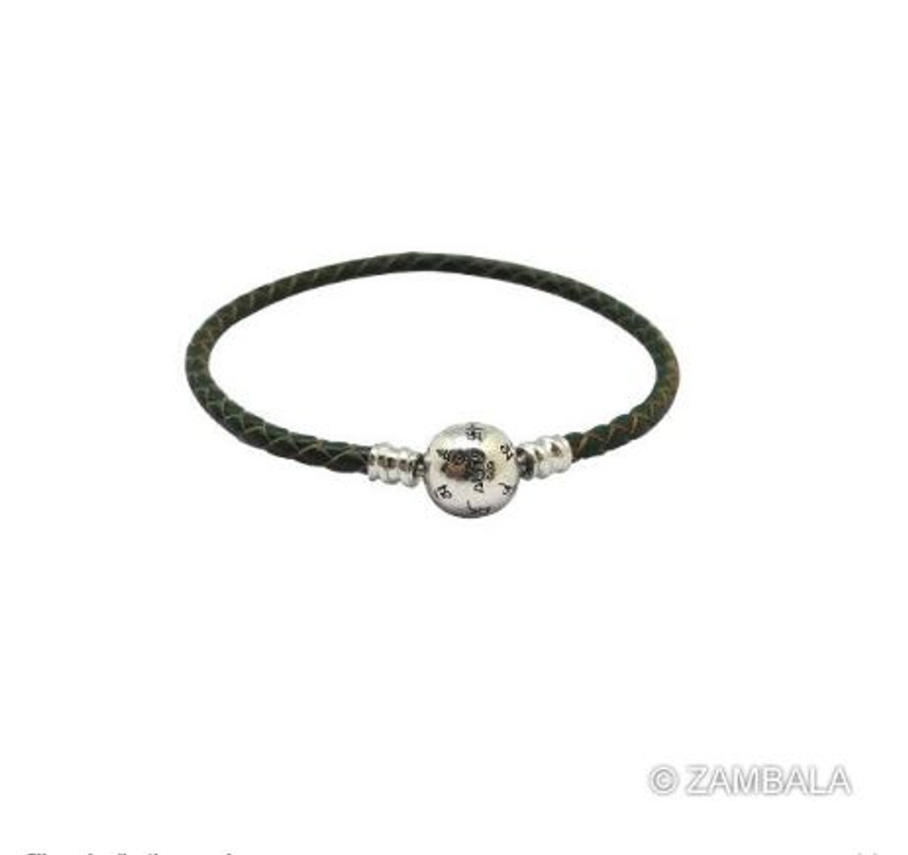 Silver Mani with Leather Wood Bracelet