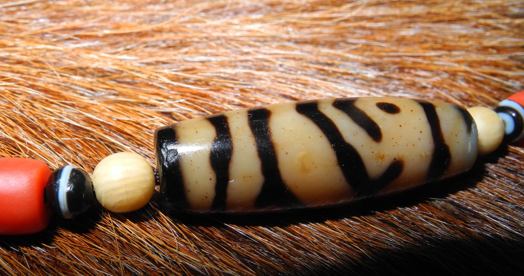 Twin Fish Tiger Eye dZi Bead
