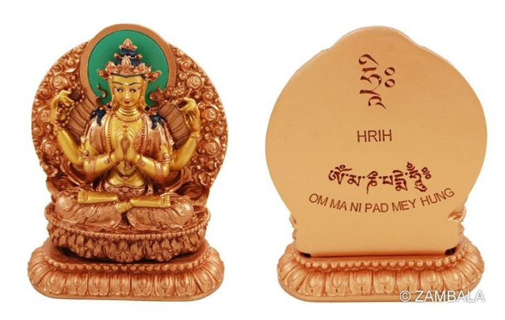 Chenrezig 12 cm with Mantra