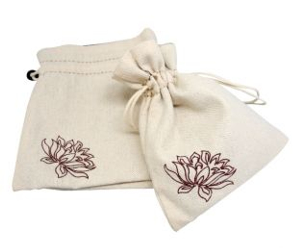 Linen Pouch with Velvet Interior