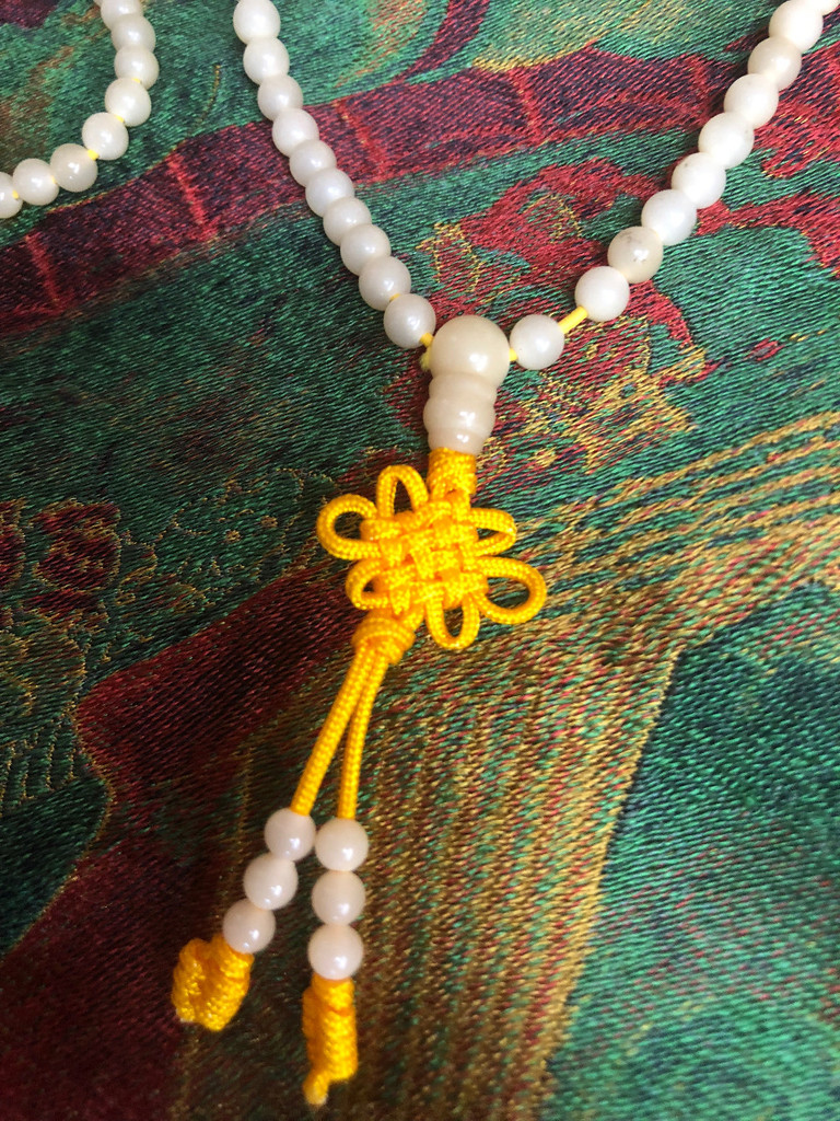 White Bodhi Root 5mm Mala