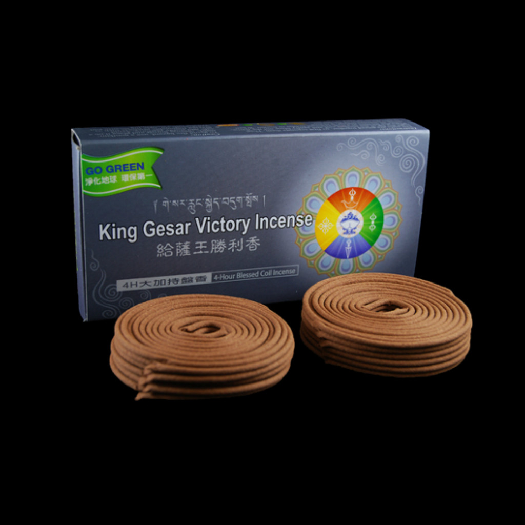 4 Hours Gesar Coil Incense - 24 Coils