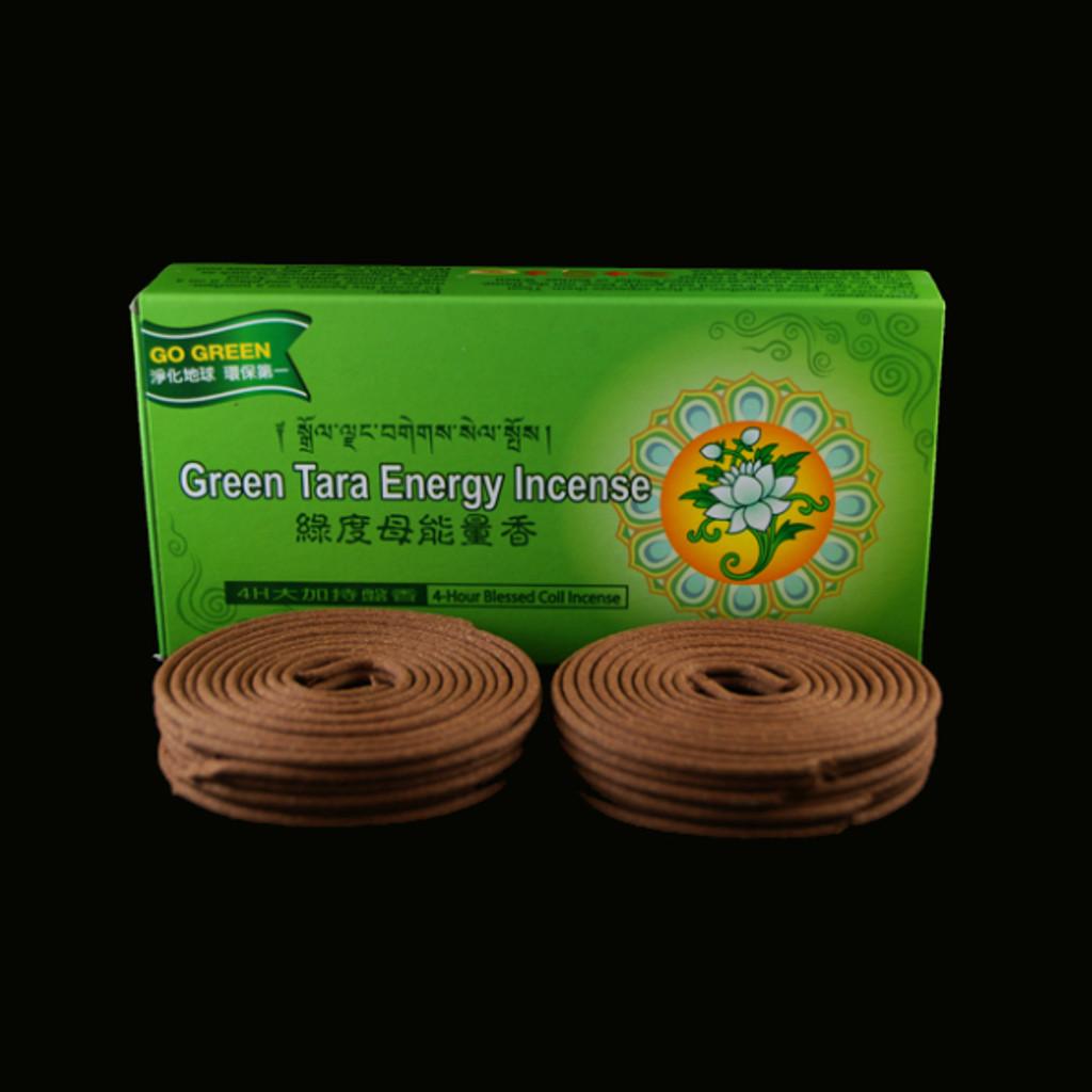 4 Hours Green Tara Coil Incense - 24 Coils