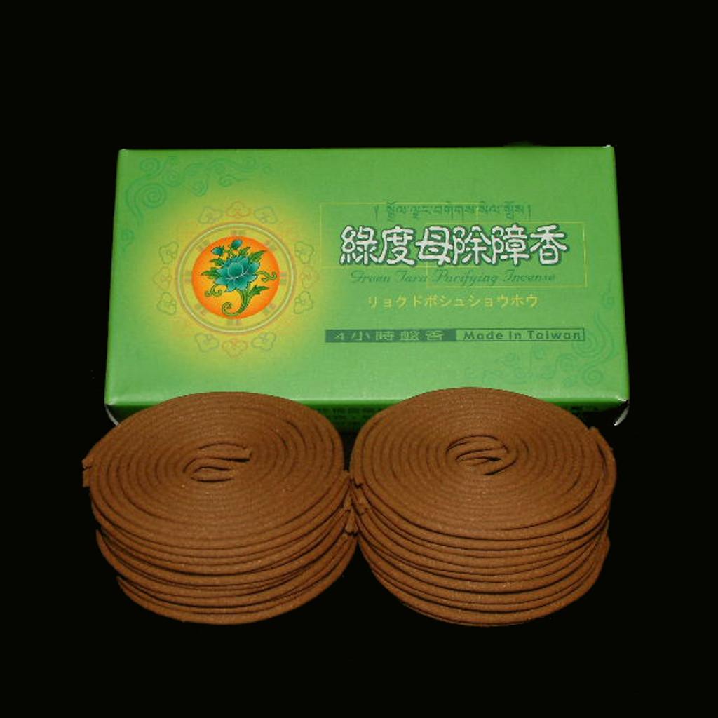 4 Hours Green Tara Coil Incense - 48 Coils