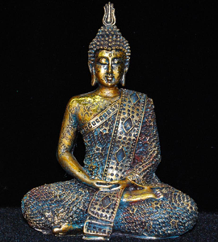 Antiqued Seated Thai Buddha