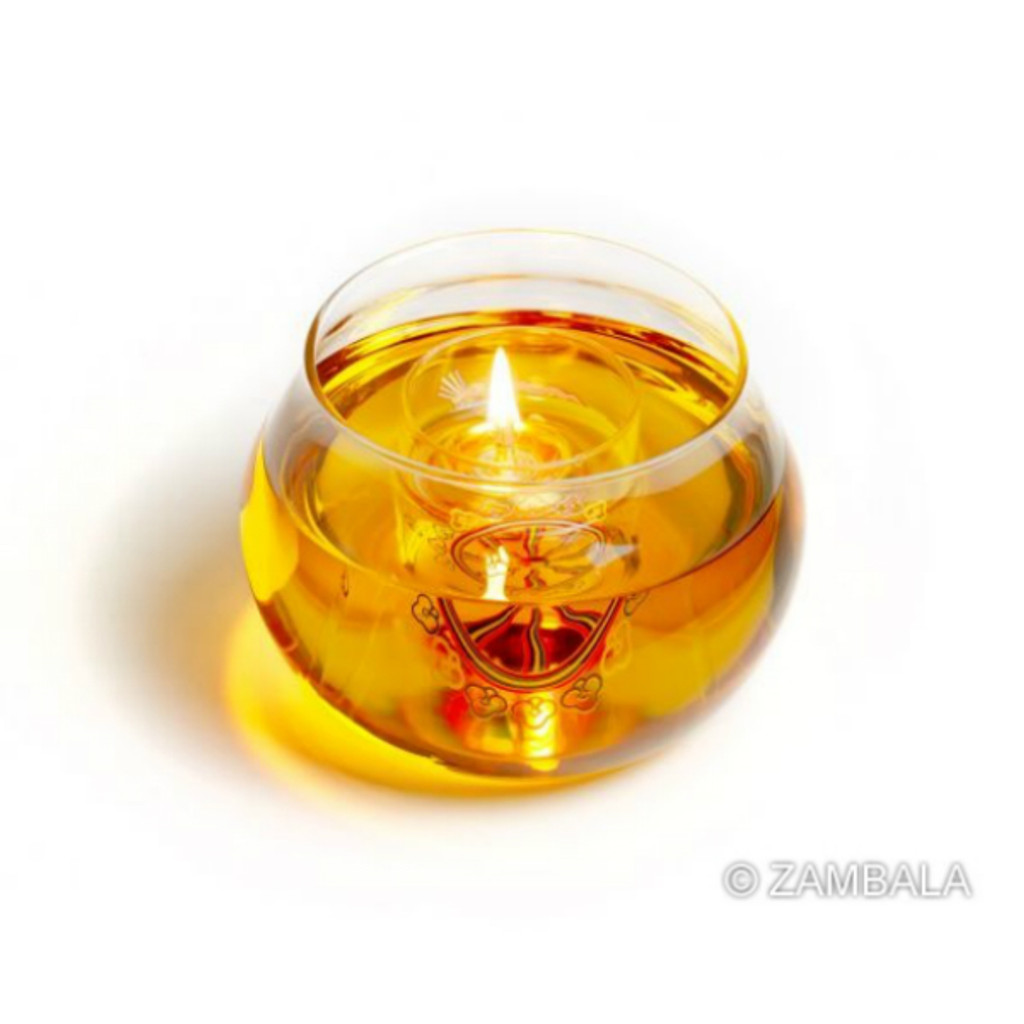 Glass Butter Lamp
